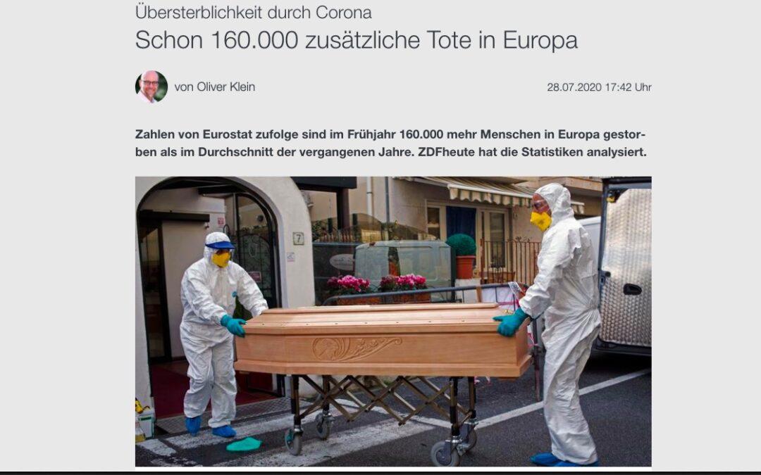 Schon 160.000 zusätzliche Tote in Europa. Wirklich?