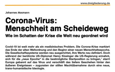 Corona-Virus: Menschheit am Scheideweg
