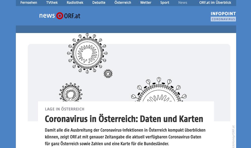 ORF Corona Infopoint Screenshot