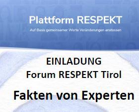 Team Tirol überträgt ein Forum im Livestream, am Freitag den 30.10.2020, ab 19 Uhr