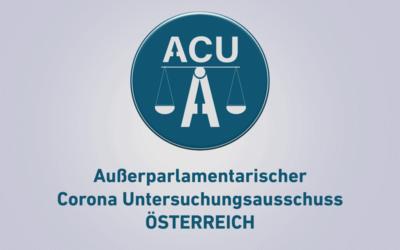 Gründung des außerparlamentarischen Corona Untersuchungsausschusses ACU-AT