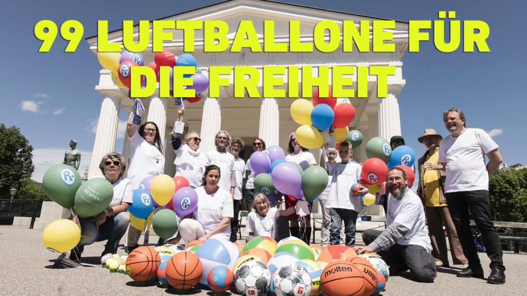 """Aktion """"Kinder- und Jugendrechte"""" : 99 Luftballone für die Freiheit"""